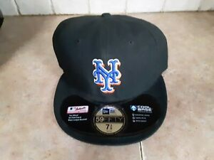 NY Mets  New Era 59 fifty new  fitted cap  black   7  3/8