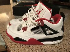 Air Jordan Retro 4 White Varsity Red Size 9 2012