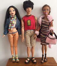 Barbie MY SCENE BAMBOLA Bundle -3 BAMBOLE CON ABITI E SCARPE - 2 Ragazze & 1 Boy Doll