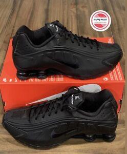 Nike Men's Shox R4 Running Shoes Black/Black-White 104265-044 Sz 10.5 New No Lid
