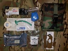NEW Woodland LOW PROFILE IFAK w Basic Trauma Kit / CAT Tourniquet / Strap Cutter