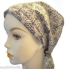 Classic Chemo Cancer Hat Alopecia Hair Loss Head Scarf  Hair Cover 100% Cotton