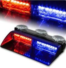 Car 16 LED Red Blue Dash Emergency Warning Flash Police Strobe Flash Light Lamp