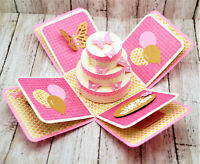 Handmade Pop Up Box Greeting Card explosion card butterflies happy birthday PICK