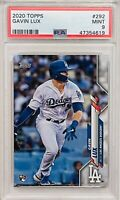 GAVIN LUX ROOKIE 2020 TOPPS CARD#292 PSA GRADED MINT 9 LA LOS ANGELES DODGERS RC