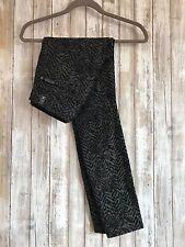 $198 7 For All Mankind The Skinny Jacquard Black Chevron Grey Skinny Jeans 26*
