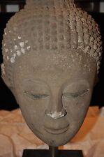 ANTIQUE SAND STONE  BUDDHA HEAD