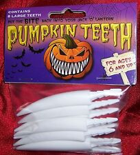 Pumpkin Teeth 8 Large Plastic Fang Teeth Halloween By The Original Pumpkin Teeth