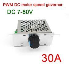 7-80V 30A DC MOTOR SPEED governor CONTROL PWM HHO RC CONTROLLER 24V 12V 48v 72V