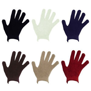 Ladies Chenille Soft Warm Full Finger Gloves Womens Thermal Cosy Winter Wear