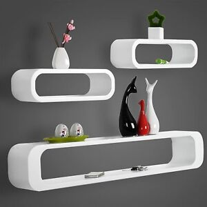 3PCs/Set Decorative Floating Shelves DIY Crafts Wall Shelf Rack for Living Room