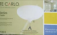 MONTE CARLO Semi Flush Ceiling Lighting Fixture Fan Light KIT Matte Opal White