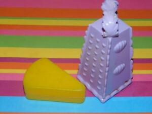 Play food for Kids Kitchen Cheese Grater and Chunk of Cheese Toddler Lot A