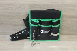 New Commercial Electric Wide Tool Pouch With Belt Mechanic Electrician Holder  R
