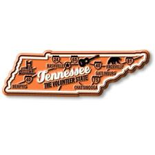 Tennessee the Volunteer State Deluxe Map Fridge Magnet