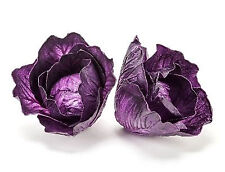 Artificial Small Purple Cabbage Head 3 Pack Decorative Fake Vegetable Set of 3