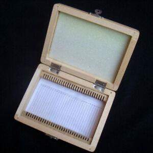 Wooden Box Storage Case 25PCS/50PCS/100PCS Microscope Slides Case Storage Holder