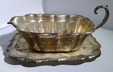Gravy Boat Tray REED & BARTON Sterling Windsor Super Vintage