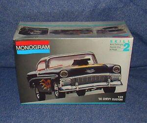Monogram 1956 Chevy Custom BelAir Model, Brand New Sealed 1991, Kit # 2255, 1:24