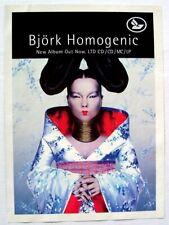 BJORK 1997 PROMO ADVERT HOMOGENIC