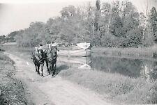 CANAL DU LOING - c. 1935 - Péniche Chevaux de Halage  Seine-et-Marne - P1055