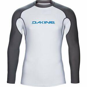 Dakine Heavy Duty Snug Fit Lycra Rashguard Surfshirt Longsleeve weiss