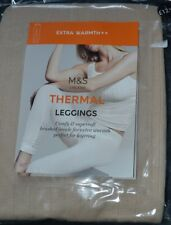 LADIES M&S THERMAL LEGGINGS LIGHT CAMEL  SIZE 8