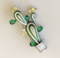 Lovely Cactus brooch pin