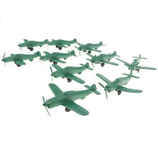 Military Model Playset Toy Soldiers Army Men Accessory 10pcs Aeroplane