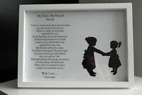 Personalised A4/ 5 x 7 inch Print,Family,Sister,Christmas,Gift,Present,Framed