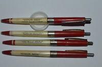 Vintage 1970's COYOTE SEEDS 4 Ballpoint Pens Everlast Promo Retractable AllWork