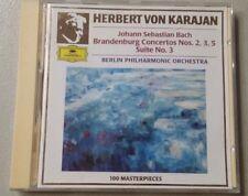 Herbert Von Karajan Bach Brandenburg Concertos Berlin Philharmonic CD Free Ship