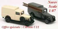 Set de 2 Citroen U11 fourgonnette de 1935  - NOREV - Echelle 1/87 - Ho