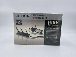 Belkin F5D8001 N1 Wireless Desktop Card New Sealed