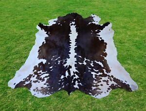Large Cowhide Rug -Animal Skin Rug Skin Rug Cowhide Carpet Leather Rug 5.8 x 5.3