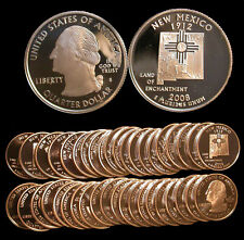 Roll of 40 2008-S Proof New Mexico 90% Silver Quarters