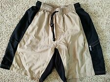 Trek Bicycles Tan Padded Cushioned Mtn Cycling Shorts Made in Usa Size Medium