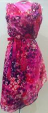 FORCAST Cocktail Evening Wrap Dress Gown Pink RRP $69.95 Size 6