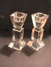 Glass Candle Holders - Set Of Two