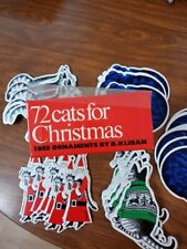 New listing B. Kliban 72 Cats for Christmas, Ornaments/Gift Tags, 4 designs/18 of each