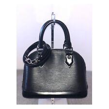 LOUIS VUITTON Alma BB Black Epi Strap Crossbody Bag