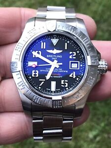 Breitling Avenger 2 Seawolf complete set and running within COSC