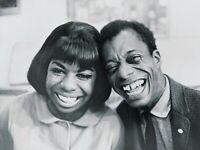 NINA SIMONE JAMES BALDWIN GLOSSY POSTER PICTURE PHOTO Guitar Jazz Singer Blues