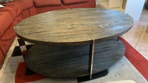 Rustic Grey Solid Wood Coffee Table, Lightly Used In A Great Condition