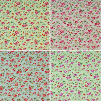 100/% Cotton Poplin Fabric Rose /& Hubble Red Polly/'s Poppy Flowers Floral Poppies