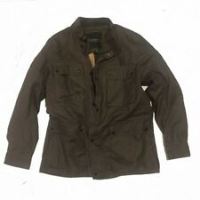 Ralph Lauren Denim and Supply Men's waxed cotton moto Jacket Tan XL