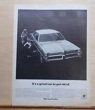 1967 magazine ad for Pontiac - A Great car to get rid of, Catalina resale value