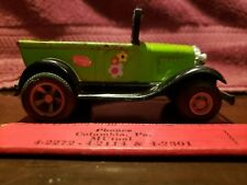 """Tonka Hot Rod green and black metal 4"""" x 2"""" Model A Ford Vintage 1970s"""