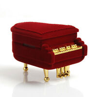 Piano Ring Box Earring Pendant Jewelry Treasure Gift Case Wedding Romantic