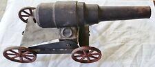 Antique 14-1/2 Inch Big Bang Cast Iron Conestoga Civil War Canon